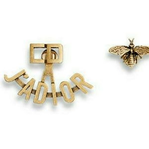 Christian Dior J'Adior Asymmetric Gold Earrings
